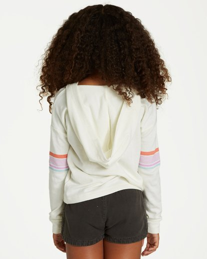 2 Girls' Cali Bear Hoodie Beige G601VBCA Billabong