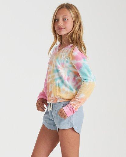1 Girls' Cali Days Tie-Dye Hoodie Grey G6022BCA Billabong