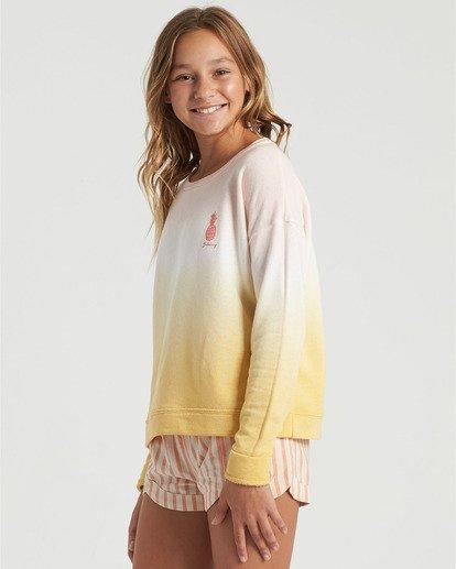 2 Girls' Block Talk Sweatshirt Grey G6023BBL Billabong