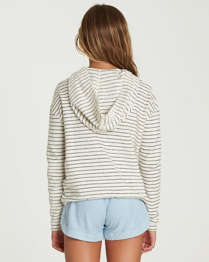 2 Girls' Friday Feeling Hoodie Beige G602QBFR Billabong