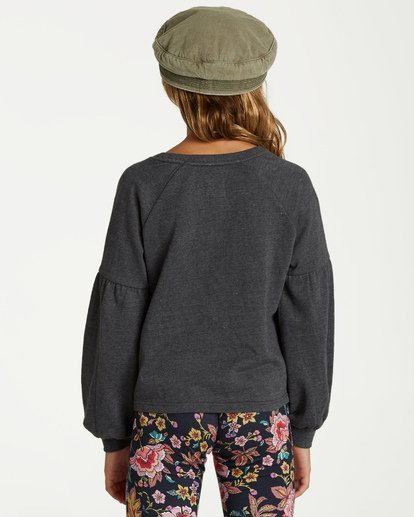 2 Girls' Full Bloom Pullover Crew Black G602TBFU Billabong