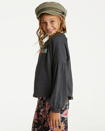 1 Girls' Full Bloom Pullover Crew Black G602TBFU Billabong