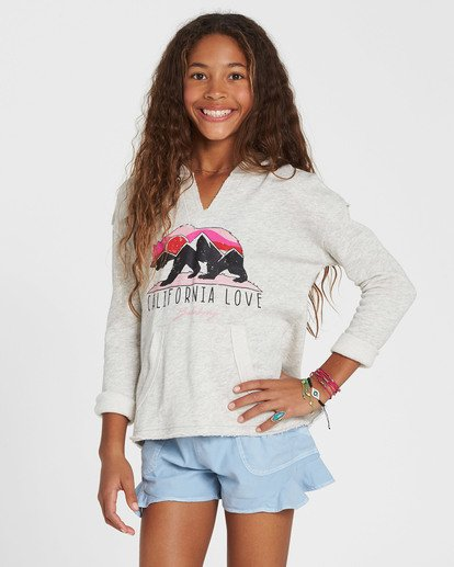 0 Girls' Days Off Pullover Hoodie Grey G603MDAY Billabong