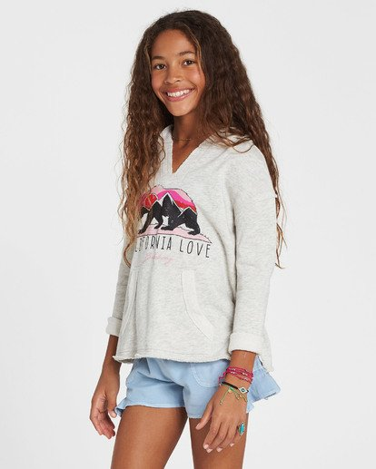 1 Girls' Days Off Pullover Hoodie Grey G603MDAY Billabong