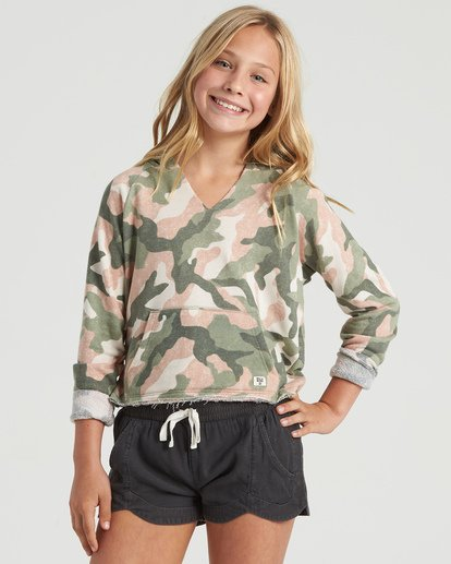 3 Girls' Camp Day Sweatshirt Beige G6043BCA Billabong