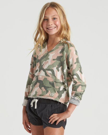 4 Girls' Camp Day Sweatshirt Beige G6043BCA Billabong