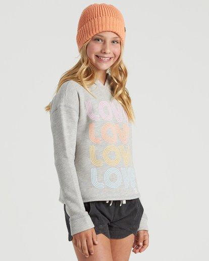 4 Girls' Windy Beach Sweatshirt Grey G6053BWI Billabong