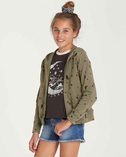1 Girls' Always It Zip Up Hoodie Green G605QBAL Billabong