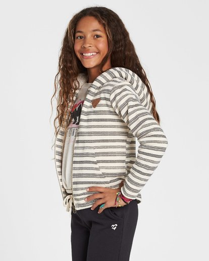 0 Girls' Snow Day Sherpa Hoodie White G605SBSN Billabong
