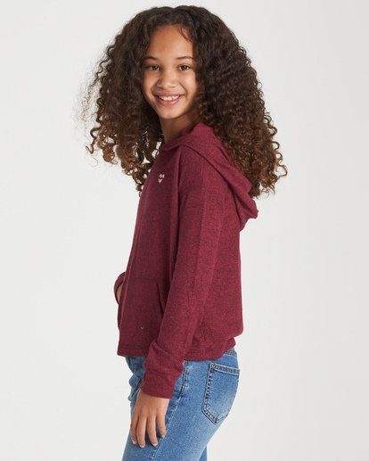 1 Girls' Saturday Dreams Hoodie Red G605VBSA Billabong
