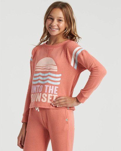 2 Girls' Lounge Life Sweatshirt Multicolor G6063BLO Billabong