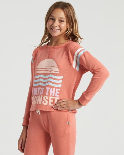 1 Girls' Lounge Life Sweatshirt Multicolor G6063BLO Billabong