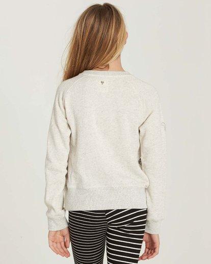 2 Girls' Running Free Fleece Pullover Grey G606MRUN Billabong