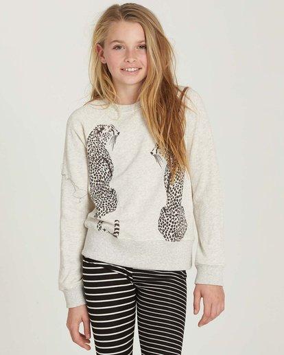 0 Girls' Running Free Fleece Pullover Grey G606MRUN Billabong