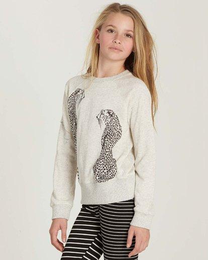 1 Girls' Running Free Fleece Pullover Grey G606MRUN Billabong