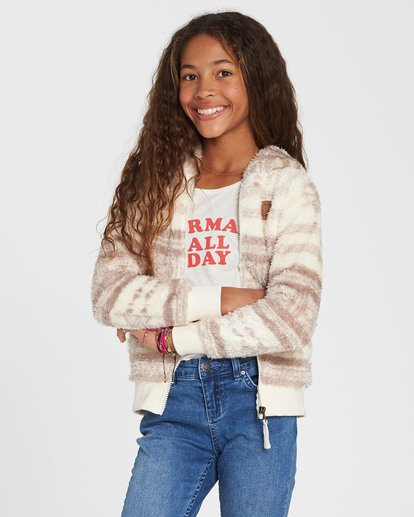 0 Girls' Cozy Town Fleece Beige G606QBCO Billabong