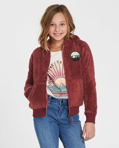 0 Girls' Cozy Town Fleece Purple G606QBCO Billabong