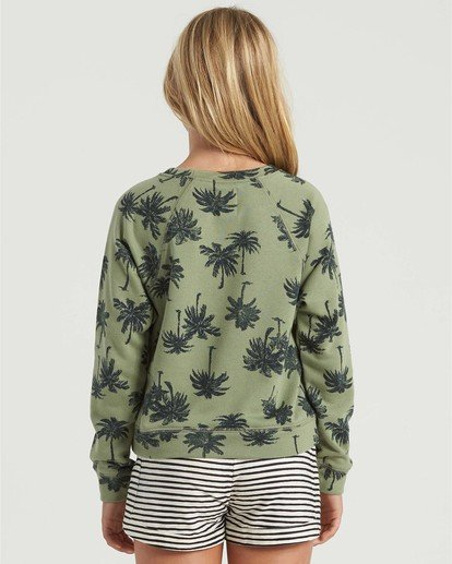 1 Girls' Palms Away Sweatshirt Multicolor G6073BPA Billabong
