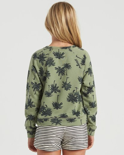 4 Girls' Palms Away Sweatshirt Multicolor G6073BPA Billabong