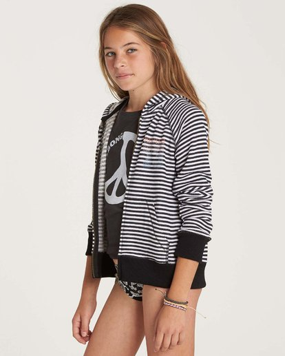 1 Girls' From The Sea Zip Up Hoodie  G607NBFR Billabong