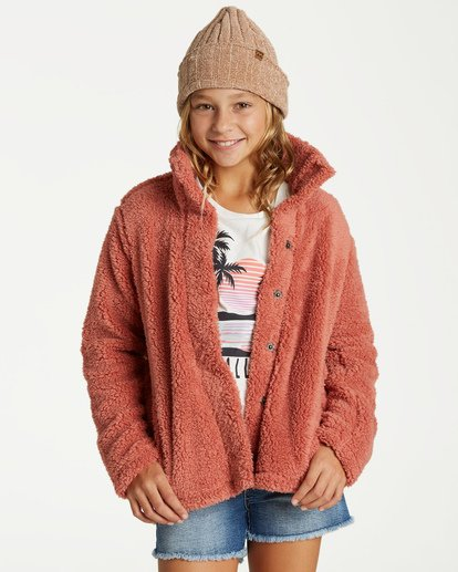 0 Girls' Artic Oasis Fleece Jacket Brown G607SBAR Billabong