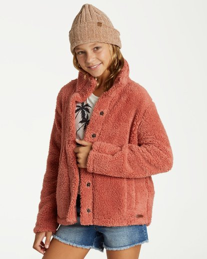 1 Girls' Artic Oasis Fleece Jacket Brown G607SBAR Billabong