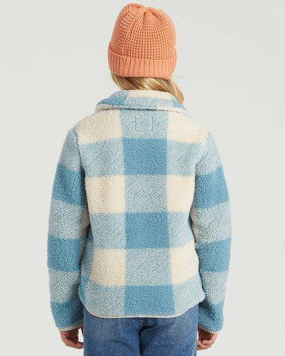 1 Girls' Warm And Cozy Fleece Jacket Blue G6083BWA Billabong
