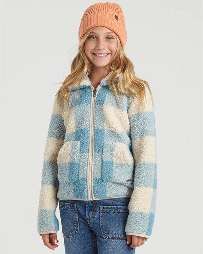 0 Girls' Warm And Cozy Fleece Jacket Blue G6083BWA Billabong