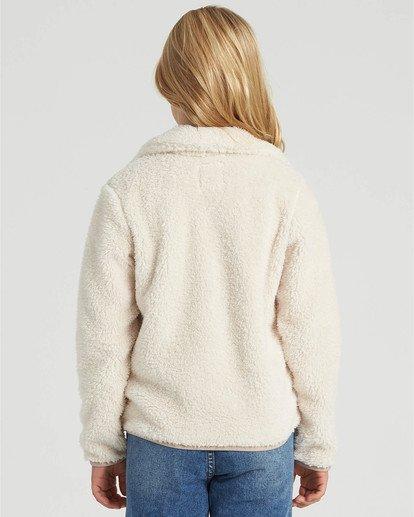 1 Girls' Warm And Cozy Fleece Jacket White G6083BWA Billabong