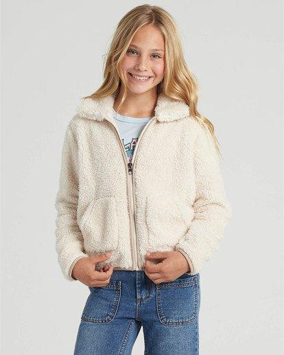 0 Girls' Warm And Cozy Fleece Jacket White G6083BWA Billabong