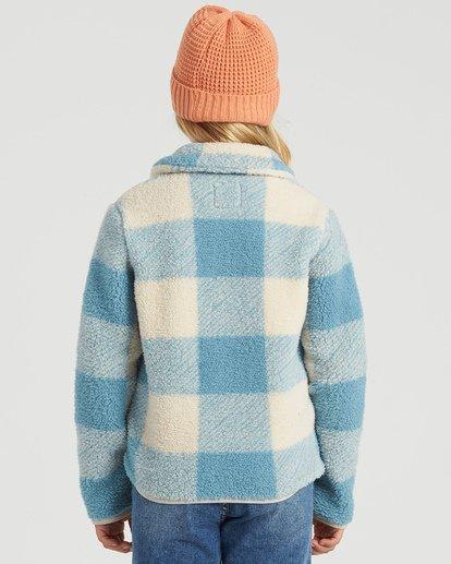 2 Girls' Warm And Cozy Polar Fleece Jacket Blue G6083BWA Billabong