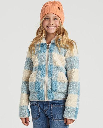3 Girls' Warm And Cozy Fleece Jacket Blue G6083BWA Billabong