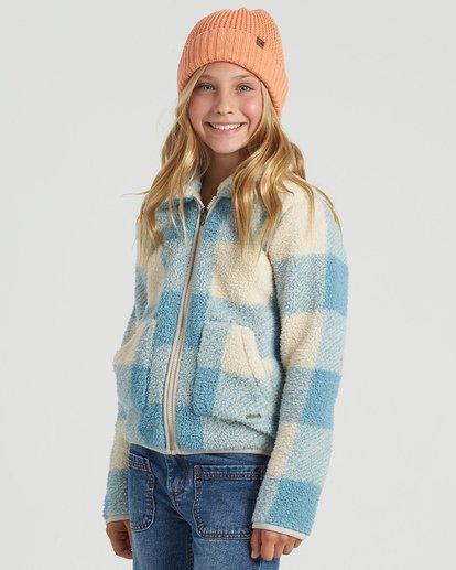 4 Girls' Warm And Cozy Fleece Jacket Blue G6083BWA Billabong
