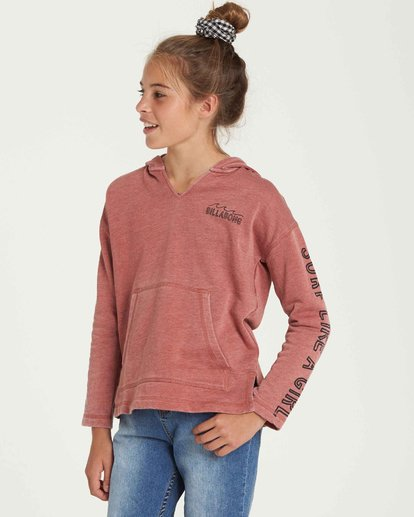1 Girls' Sunday Love Hoodie Brown G608QBSU Billabong
