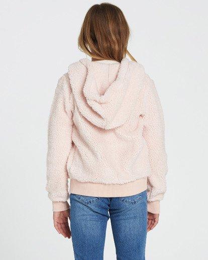 1 Girls' Cozy Town Polar Fleece Hoodie Pink G608SBCO Billabong