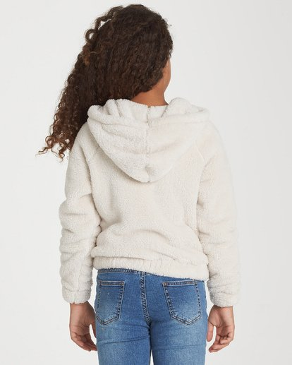 2 Girls' Snow Day 2 Fleece Jacket White G608WBSN Billabong