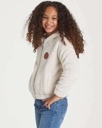 1 Girls' Snow Day 2 Fleece Jacket White G608WBSN Billabong