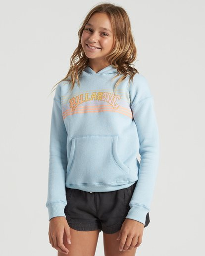 1 Girls' Heritage Stripe Hoodie Multicolor G6513BHE Billabong