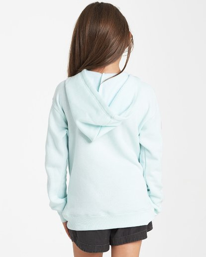 2 Girls' Peace Love And Waves Hoodie Blue G651VBPE Billabong