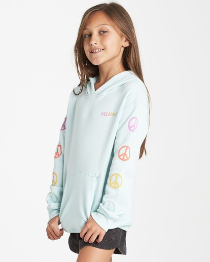 1 Girls' Peace Love And Waves Hoodie Blue G651VBPE Billabong