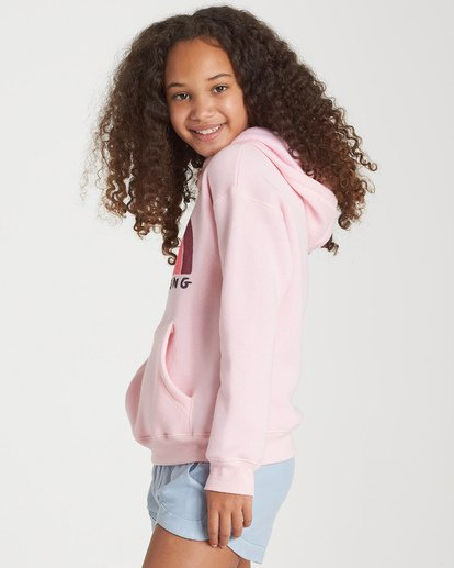 1 Girls' Band Of Color Hoodie Pink G651WBBA Billabong