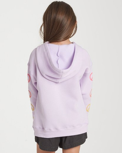 2 Girls' Peace Love And Waves Hoodie Purple G651WBPE Billabong