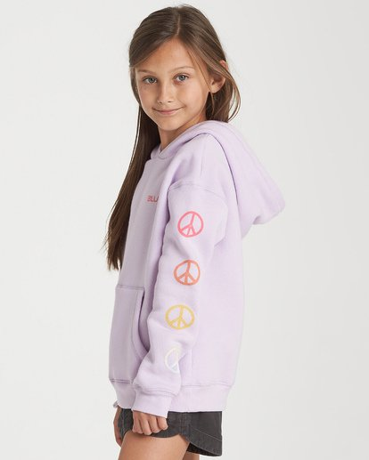1 Girls' Peace Love And Waves Hoodie Purple G651WBPE Billabong
