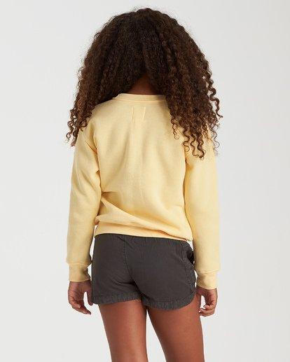 2 Girls' Postcard Greetings Sweatshirt Yellow G6532BPO Billabong