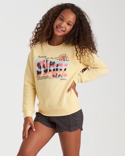 0 Girls' Postcard Greetings Sweatshirt Yellow G6532BPO Billabong