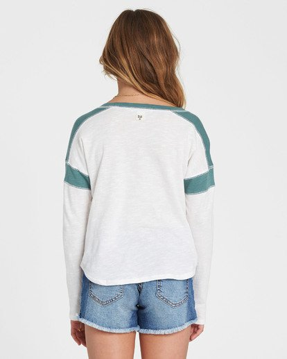 2 Girls' Game Time Long Sleeve Tee Green G901SBGA Billabong