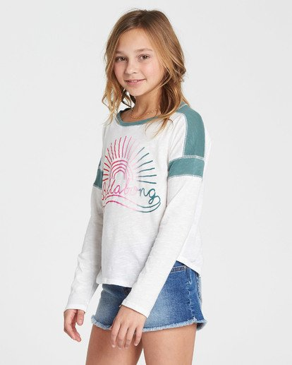 1 Girls' Game Time Long Sleeve Tee Green G901SBGA Billabong