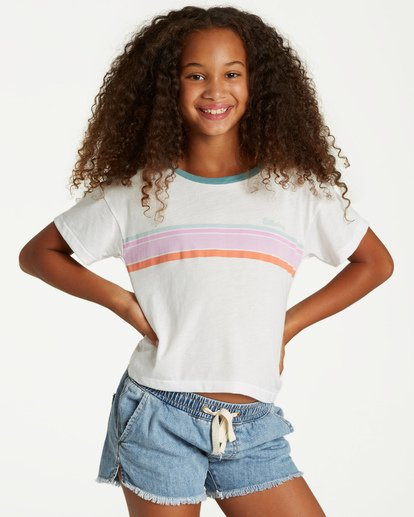 0 Girls' Seeing Stripes Top Beige G901VBSE Billabong
