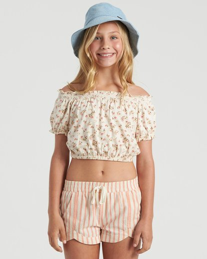 3 Girls' Sweet Song Top White G9023BSW Billabong