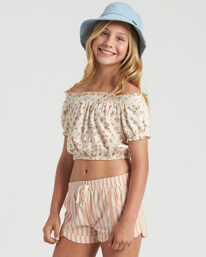 4 Girls' Sweet Song Top White G9023BSW Billabong
